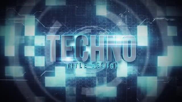 Techno Title: Motion Graphics Templates