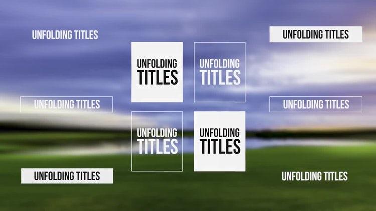Unfolding Titles: Premiere Pro Templates