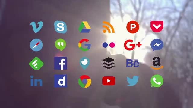 24 Social Icon Animations: After Effects Templates