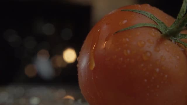 Fresh Tomato With Dewdrops: Stock Video