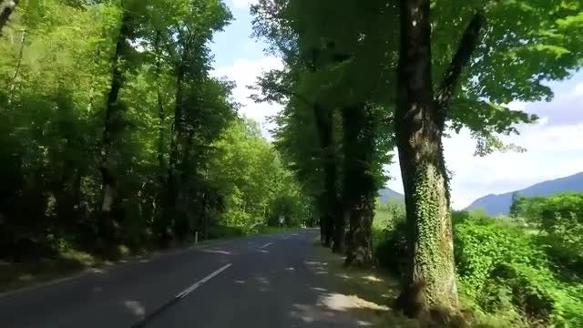 POV Shot Of Countryside Road: Stock Video