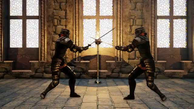 Medieval Knights In A Sword-fight: Stock Motion Graphics
