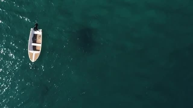 Overhead Shot Of Small Boat: Stock Video