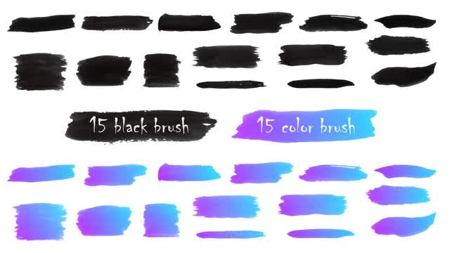 Brush Strokes Elements: Stock Motion Graphics