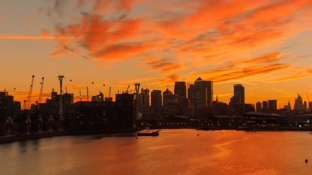 London And Thames By Twilight: Stock Video