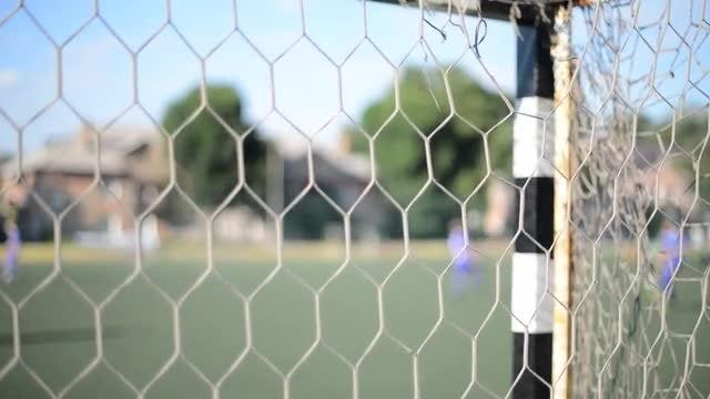 Men On Soccer Training Pitch: Stock Video