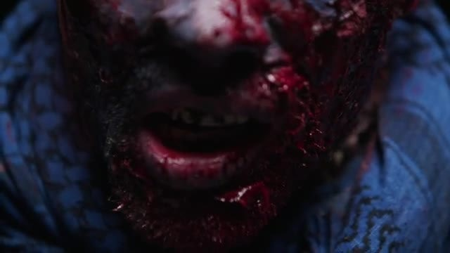 Close-up Shot Of Male Zombie: Stock Video