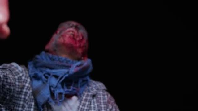 Zombie Walking In The Dark: Stock Video
