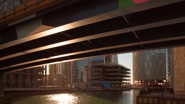 Canary Wharf Business District In London: Stock Video