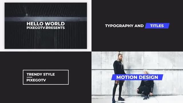 The Titles v3.0 / Typography Pack: Premiere Pro Templates