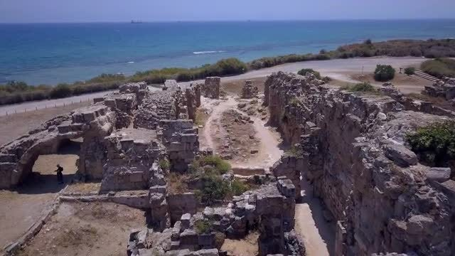 Aerial Shot Of Ancient Ruins: Stock Video