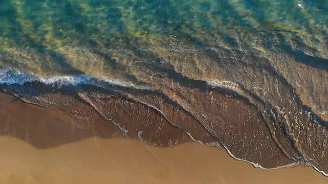 Streaked, Multi-Colored Seashore: Stock Video