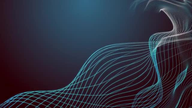Wavy Lines And Shapes Background: Stock Motion Graphics