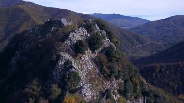 Ancient Village In The Mountains: Stock Video