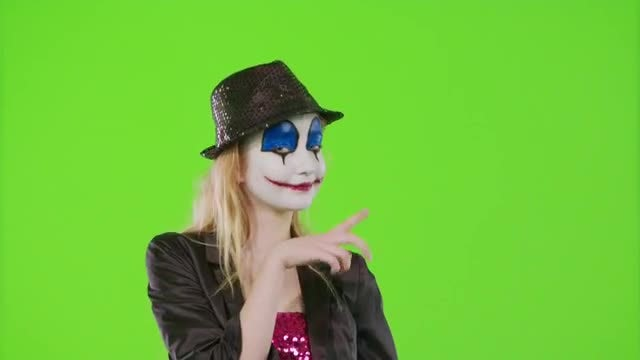Clown Costume Gestures: Stock Video