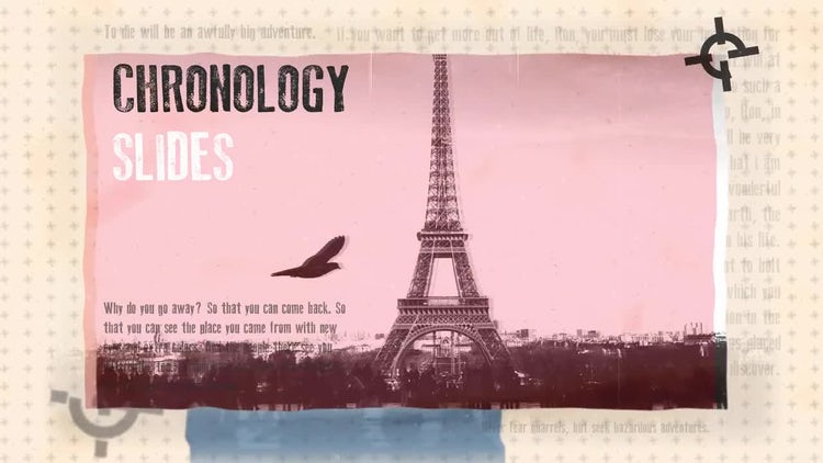 Chronology Slides: After Effects Templates