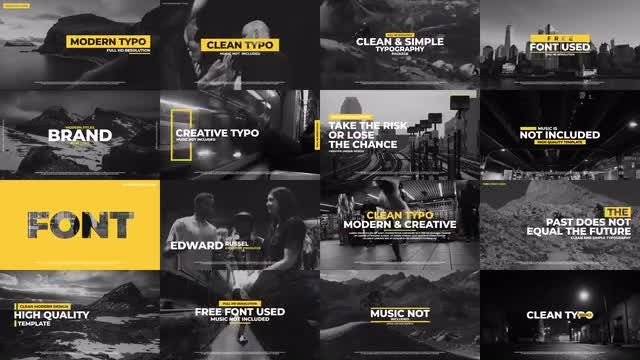 Clean Typography v.3: Premiere Pro Templates