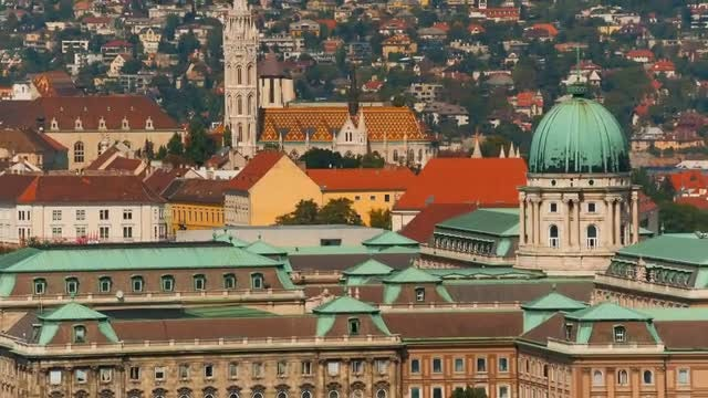 Buda Castle In Budapest: Stock Video