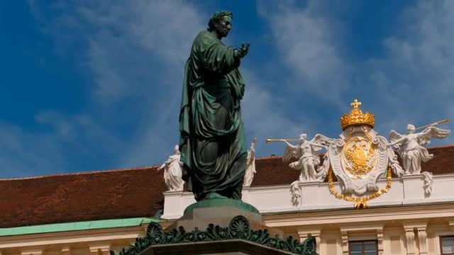 Last Holy Roman Emperor's Statue: Stock Video