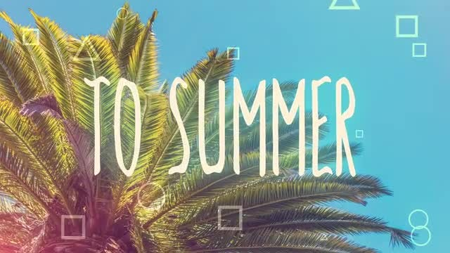 Positive Summer Opener: After Effects Templates
