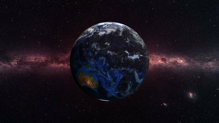Planet Earth in Deep Space: Stock Motion Graphics