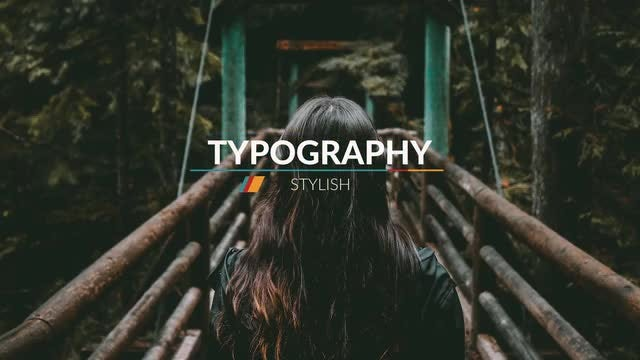 Modern Typography Title: Motion Graphics Templates