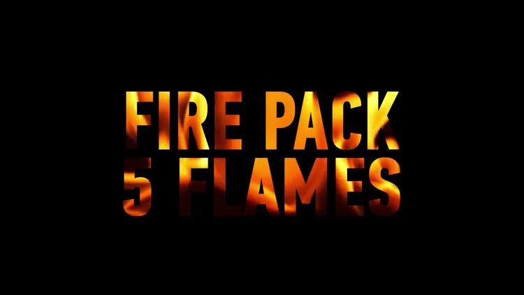 Fire Pack, 5 flames: Stock Video