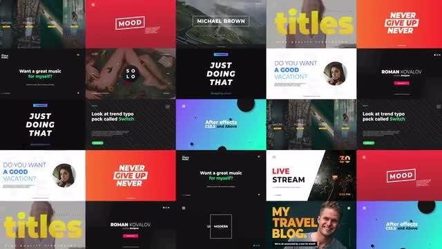 Slide Typography: After Effects Templates