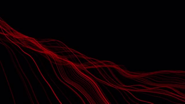Red Waves Overlay: Stock Motion Graphics