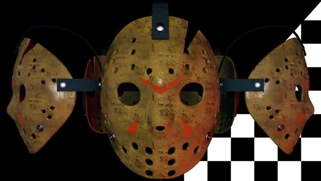Scary Hockey Masks VJ Loop: Stock Motion Graphics