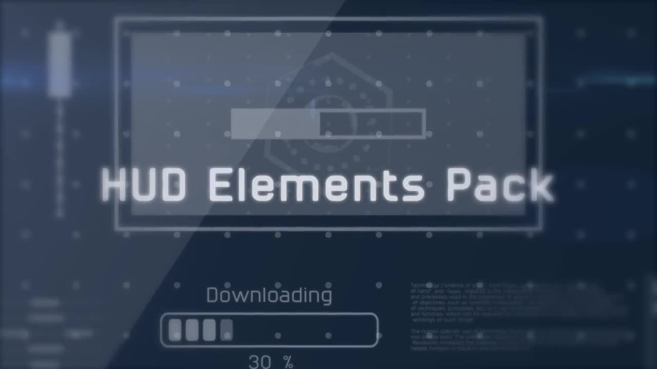 Sci-Fi HUD Elements Pack - After Effects Templates | Motion