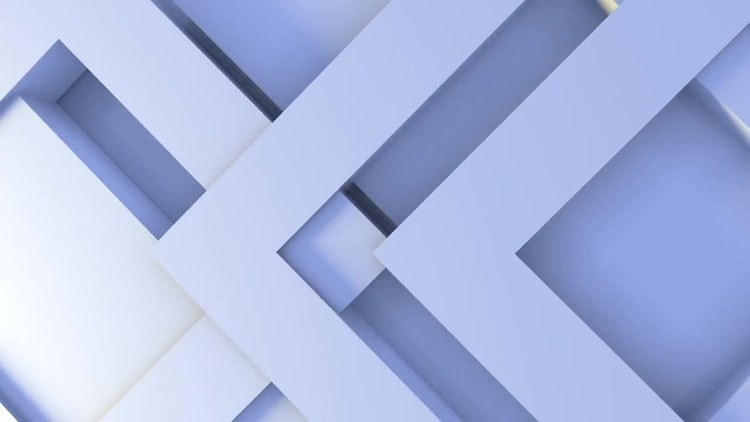 Blue 3d Shapes Clean Background: Stock Motion Graphics