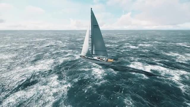 Yacht Sailing: Stock Motion Graphics