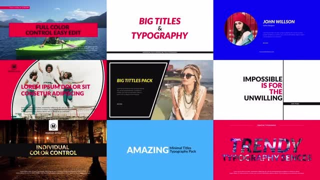 Big Titles & Typography: After Effects Templates