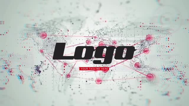 World Map Logo Reveal: After Effects Templates