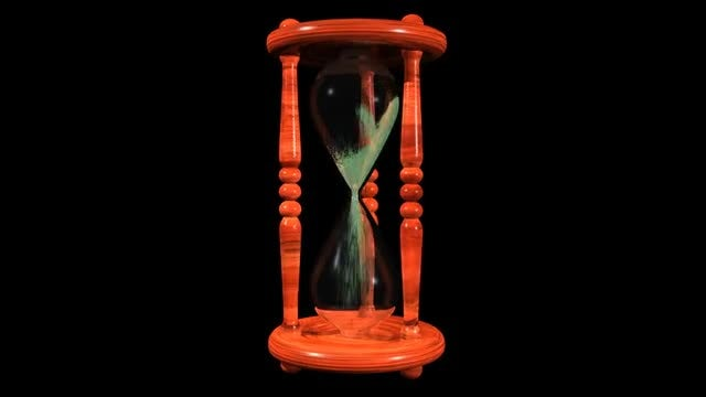 Spinning Hourglass: Stock Motion Graphics