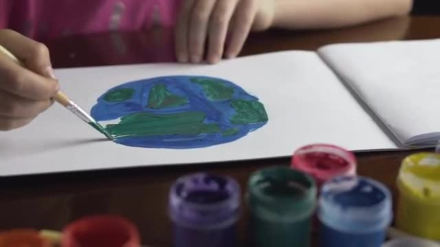 Planet Earth Painting: Stock Video