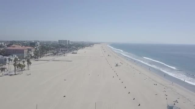 Aerial Shot Of Venice Beach: Stock Video