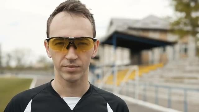 Male Athlete With Designer Sunglasses: Stock Video