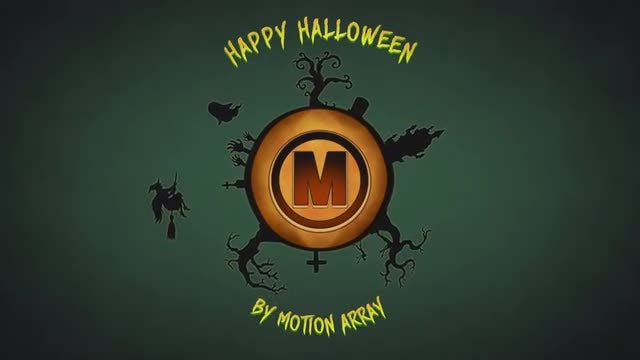 Halloween Pumpkin Logo: After Effects Templates