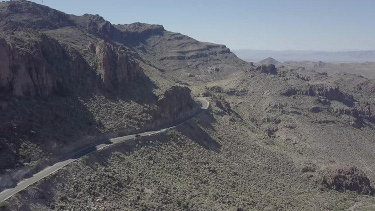 Car Driving In The Desert: Stock Video