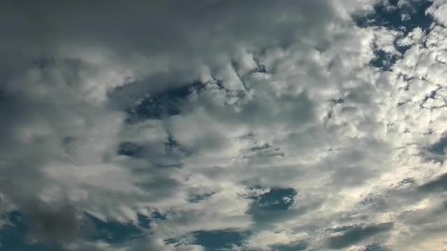 Patchy Cumulus Rain Clouds: Stock Video