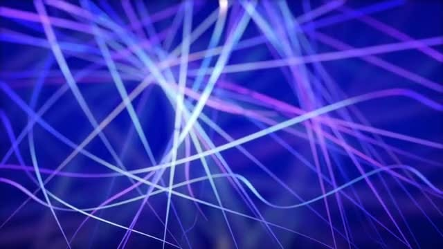 Blue Glowing Lines Mesh Background: Stock Motion Graphics