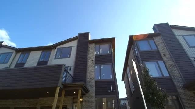 Luxury Condominium Complex Driveby: Stock Video
