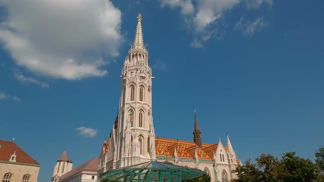 Matthias Church In Budapest, Hungary: Stock Video