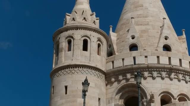 Fisherman's Bastion In Budapest, Hungary: Stock Video