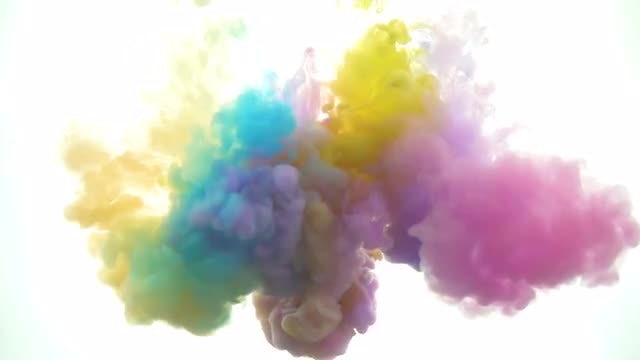 Pastel Paints In Water: Stock Video