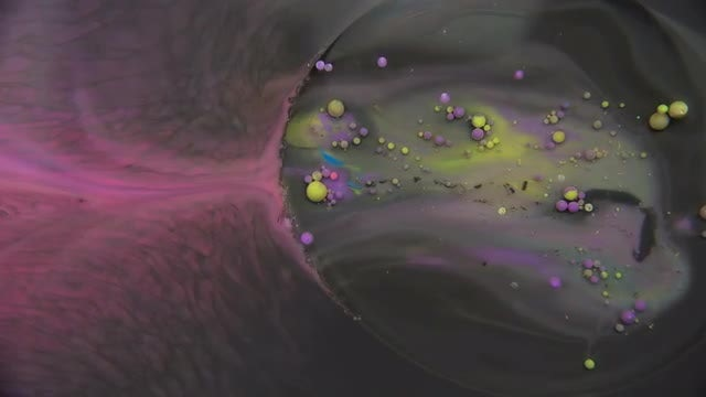 Mixture Of Paints With Bubbles: Stock Video