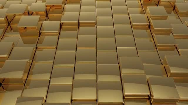 Golden Cubes: Stock Motion Graphics