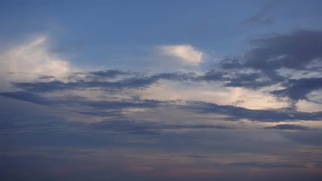 Dark Clouds Moving At Sunset: Stock Video